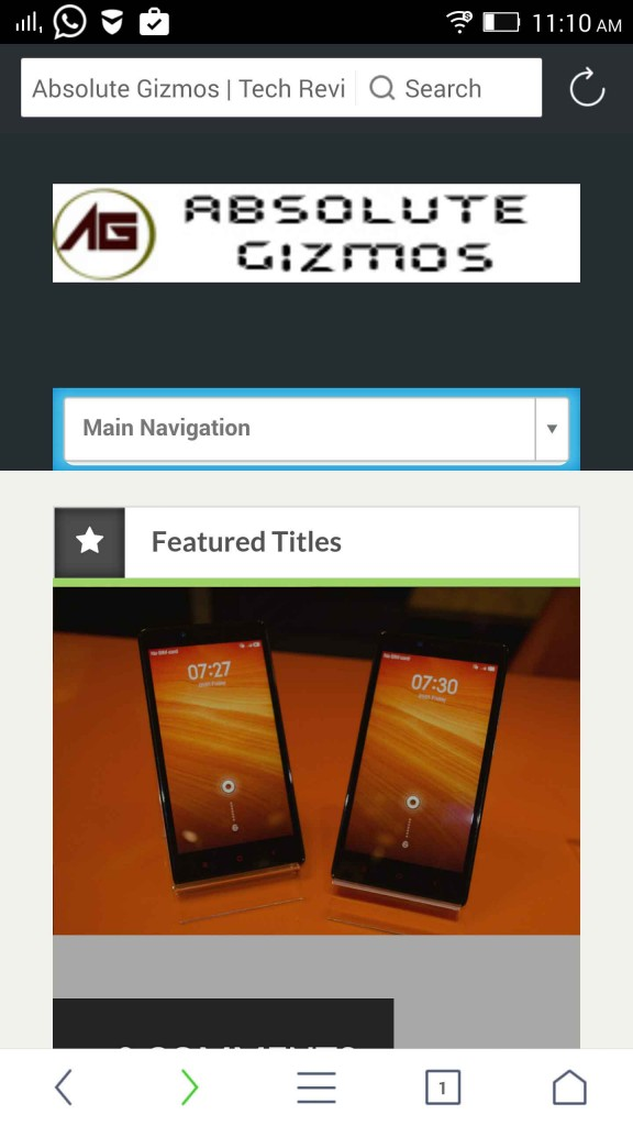 UC browser with Material Design