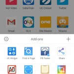 UC browser with Material Design addons