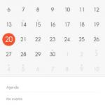 Xiaomi Redmi 2 MIUI 6 Calender