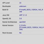 Lenovo Vibe P1m CPUZ System Details