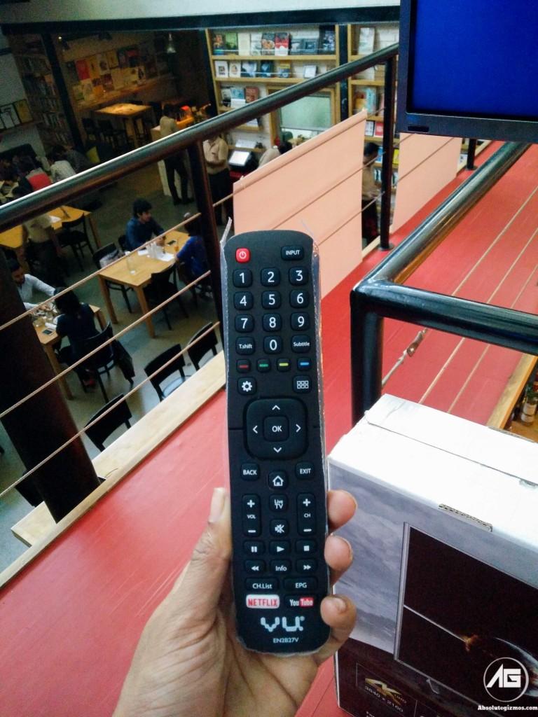 VU Iconium 40 inch Ultra HD 4K Smart TV Remote with NetFlix Button