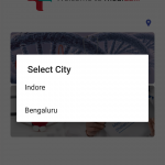 Medidiali App (City Selection)