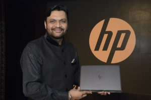 Ketan Patel, Director Personal System Hp India, Holding the HP Spectre