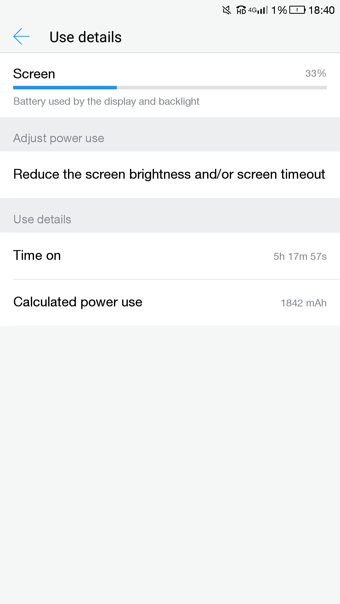 Le 2 Battery life Screen On Time