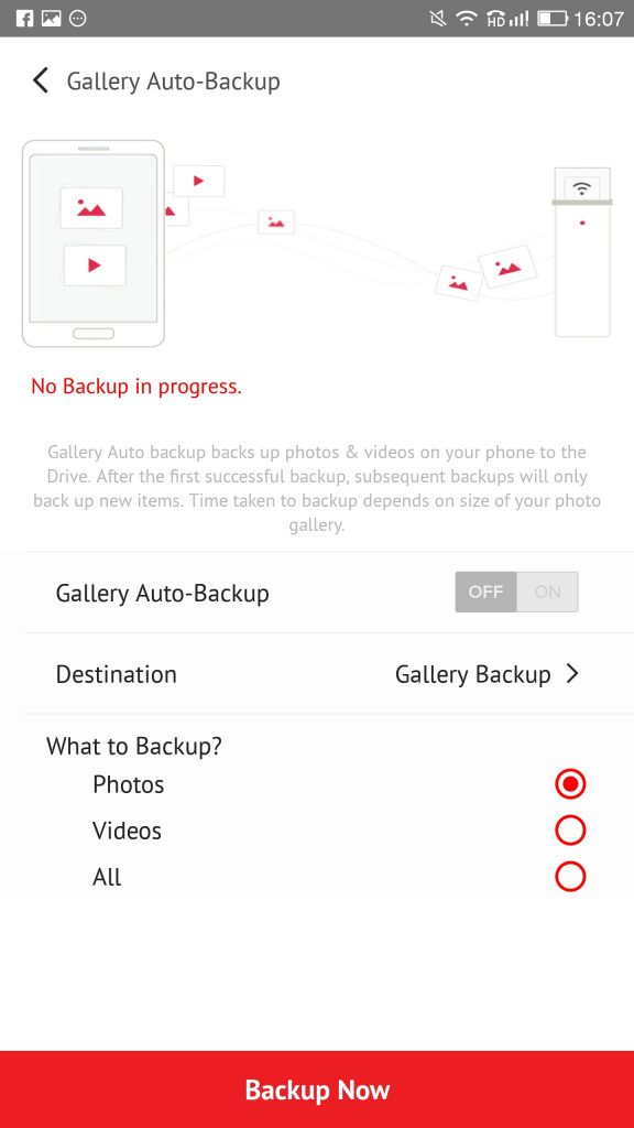 Sandisk Connect App Gallery Backup