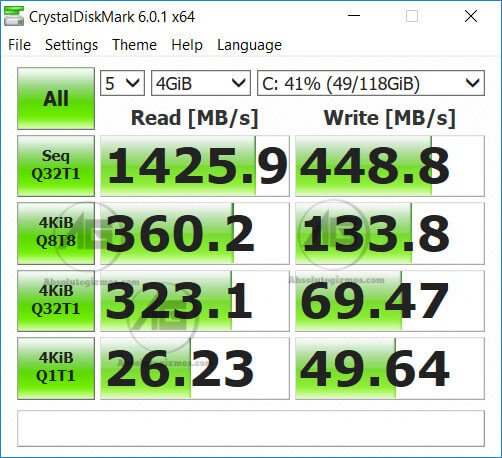 Kingston PCIe 3.0 NVMe SSD Inside Asus FX504 Benchmark
