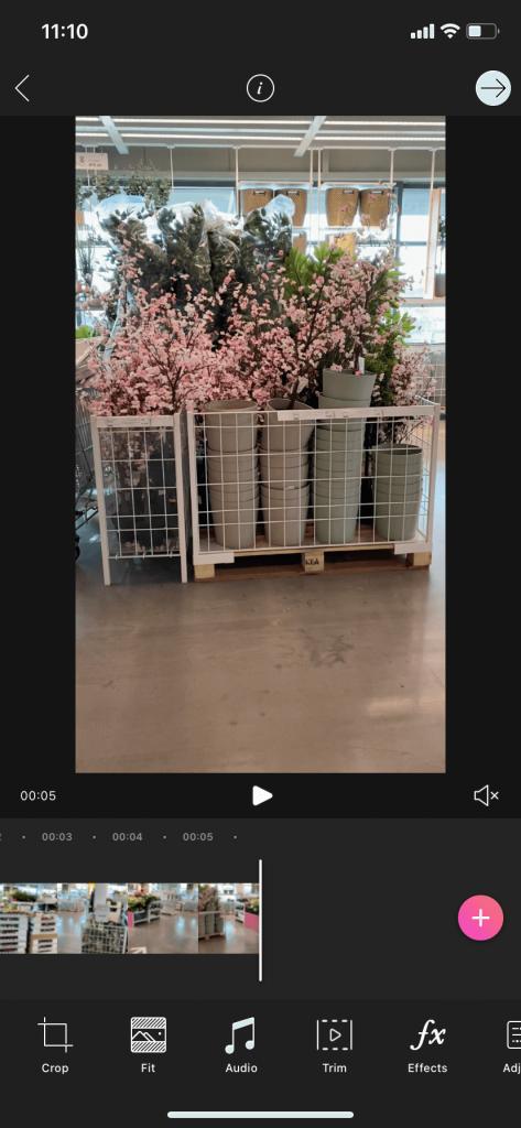Pics art video editor screenshot of UI